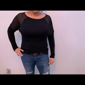 Black work out top
